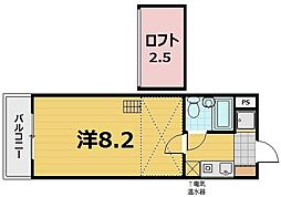 ヒューマスタ39[5階]の間取り