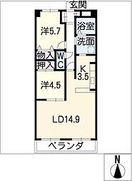 パークサイドM・I[6階]の間取り