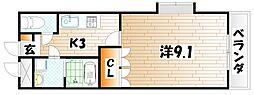 シェレン・バウム・F[3階]の間取り