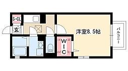 愛知県名古屋市昭和区神村町1丁目の賃貸アパートの間取り