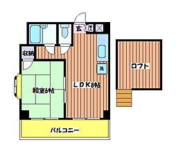 太陽マンション[4階]の間取り