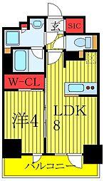 都営三田線 板橋区役所前駅 徒歩5分の賃貸マンション 10階1LDKの間取り