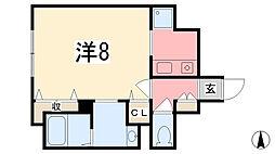 エーデルハイム三共[301号室]の間取り