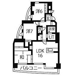 グランドール雅[9階]の間取り