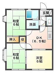 ファミリーハイツK2[1階]の間取り