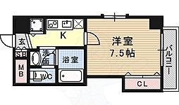 Vigorpolis133宝塚 7階1Kの間取り