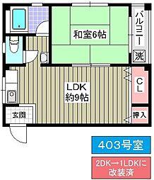 上林マンション[403号室]の間取り