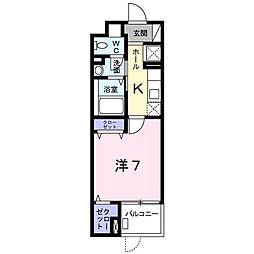北野町マンション[0103号室]の間取り