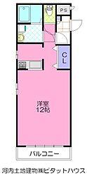プロスペラーレ 2階ワンルームの間取り