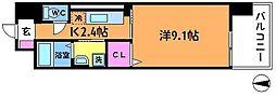 プラウディア多摩川[203号室]の間取り