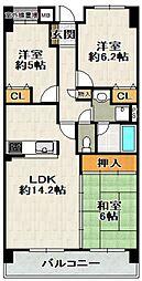 コスモ宝塚[4階]の間取り