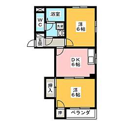 ドエルストークII[1階]の間取り
