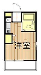 神奈川県横浜市鶴見区市場東中町の賃貸アパートの間取り