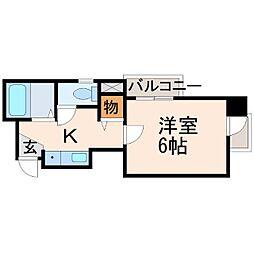 兵庫県西宮市甲子園口6丁目の賃貸マンションの間取り