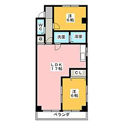 サンハイツ松井[3階]の間取り