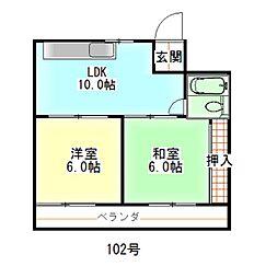サンシャインパート2[102号室号室]の間取り