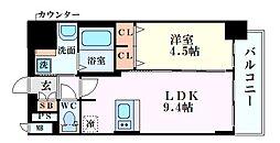 Osaka Metro御堂筋線 東三国駅 徒歩7分の賃貸マンション 8階1LDKの間取り