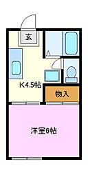 カネヨシハイツ[2階]の間取り