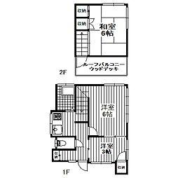 [一戸建] 東京都調布市菊野台2丁目 の賃貸【/】の間取り