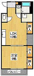プランドール原田パート2[3階]の間取り