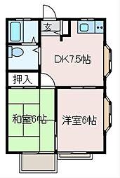 ディライト[1階]の間取り