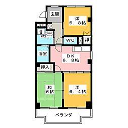プレサージュKAKO[3階]の間取り