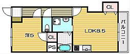 第一萩谷マンション[3階]の間取り