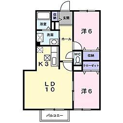 北海道札幌市中央区宮の森三条12丁目の賃貸アパートの間取り