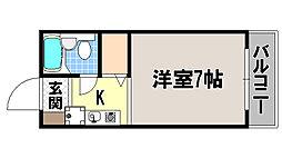 京都府京都市左京区聖護院西町の賃貸マンションの間取り