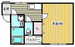 ハイマートハウス十善[3階]の間取り