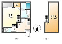 仮)呼続3丁目2 A・SKHコーポ[2階]の間取り