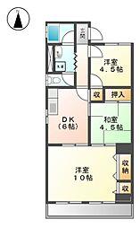 メゾン磯部第2ビル[3階]の間取り