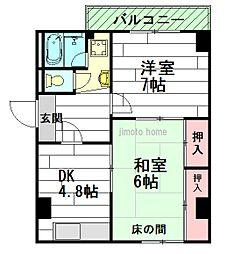 堀田マンション[3階]の間取り