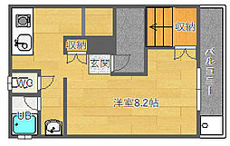大阪府吹田市千里山西1丁目の賃貸マンションの間取り