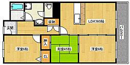 マンションナシマ[302号室]の間取り