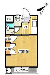 常盤ハイツA K[A206号室]の間取り