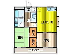 関野マンション[201号室]の間取り