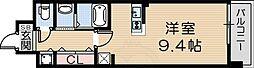 JR東海道・山陽本線 立花駅 徒歩37分の賃貸マンション 5階ワンルームの間取り