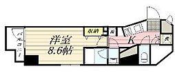 GRAN PASEO麻布十番 10階1Kの間取り