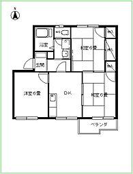 渋谷ハイツ[202号室]の間取り