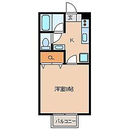 長野県上田市諏訪形の賃貸マンションの間取り