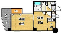 ロマネスク渡辺通南第2(402)[4階]の間取り