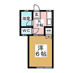 福寿荘八幡[2階]の間取り