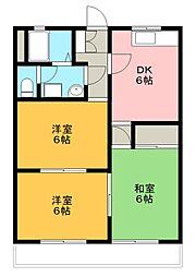 メゾン千塚[202号室]の間取り