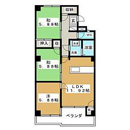 メゾン富士[4階]の間取り