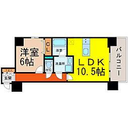 愛知県名古屋市中区錦1丁目の賃貸マンションの間取り