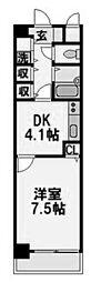 ブレスト塚本[202号室]の間取り