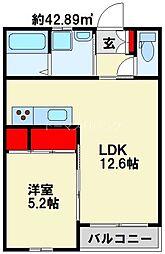 エスペランサ門司港 2階1LDKの間取り
