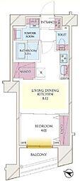都営新宿線 岩本町駅 徒歩4分の賃貸マンション 4階1LDKの間取り
