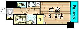 グランパシフィック本田[6階]の間取り
